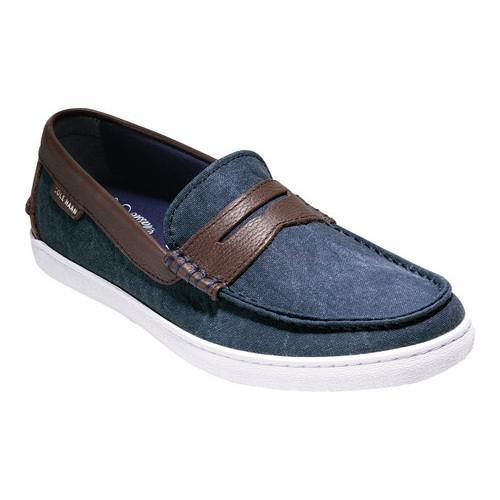 a1de696ff0a Shop Men s Cole Haan Pinch Weekender Loafer Blazer Blue Textile Chestnut  Leather - Free Shipping Today - Overstock - 14667331