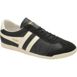 Men's Gola Bullet Nylon Sneaker Black/Ecru Nylon/Suede