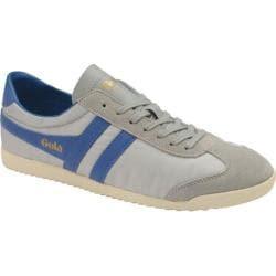 Men's Gola Bullet Nylon Sneaker Grey/Marine Blue Nylon/Suede