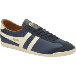 Men's Gola Bullet Nylon Sneaker Navy/Ecru/Orange Nylon/Suede