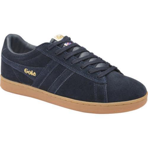 Men's Gola Equipe Suede Casual Sneaker Navy/Navy/Gum Suede