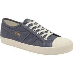Women's Gola Coaster Linen Sneaker Slate Blue/Off White Linen
