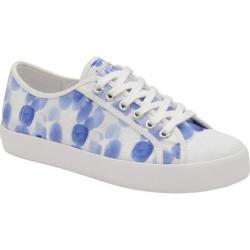 Women's Gola Coaster Print Sneaker Blue Droplet/White Canvas