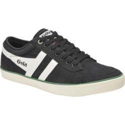 Men's Gola Comet Casual Sneaker Black/Off White/Green Canvas