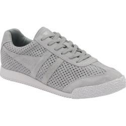 Women's Gola Harrier Squared Sneaker Pale Grey Suede