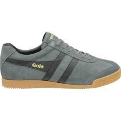Men's Gola Harrier Suede Sneaker Graphite/Black Suede