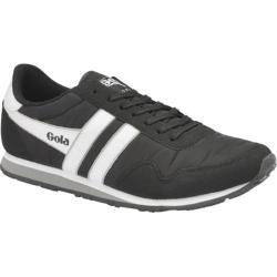Men's Gola Monaco Sneaker Black/White/Grey Nylon/Synthetic Suede