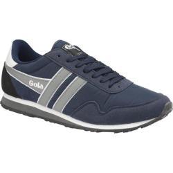 Men's Gola Monaco Sneaker Navy/Grey/White Nylon/Synthetic Suede