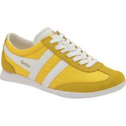 Women's Gola Wasp Sneaker Yellow/White Nylon/Suede