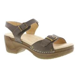 Women's Sanita Clogs Davia Brown Leather