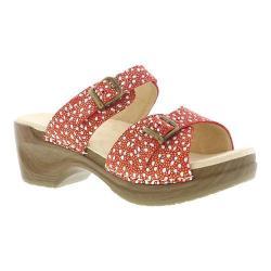 Women's Sanita Clogs Debora Sandal Red Paisley Leather