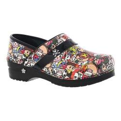 Women's Sanita Clogs Kaeleigh Professional Closed Back Clog Multicolor Printed Patent Leather