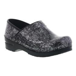 Women's Sanita Clogs Pearlized Marble Closed Back Clog Black Printed Patent Leather