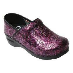 Women's Sanita Clogs Pheobe Closed Back Clog Purple Embossed Patent Leather|https://ak1.ostkcdn.com/images/products/176/233/P21203431.jpg?impolicy=medium