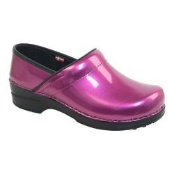 Women's Sanita Clogs Sabel Professional Closed Back Clog Purple Printed Patent Leather