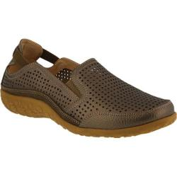 Women's Spring Step Juhi Perforated Slip On Bronze Full Grain Leather