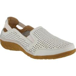 Women's Spring Step Juhi Perforated Slip On White Full Grain Leather