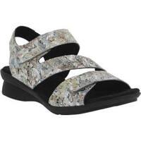 Women's Spring Step Nadezhda Strappy Sandal Gray Multi Printed Leather