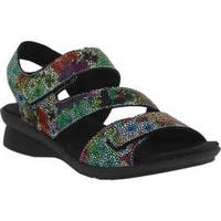 Women's Spring Step Nadezhda Strappy Sandal Rainbow Multi Printed Leather