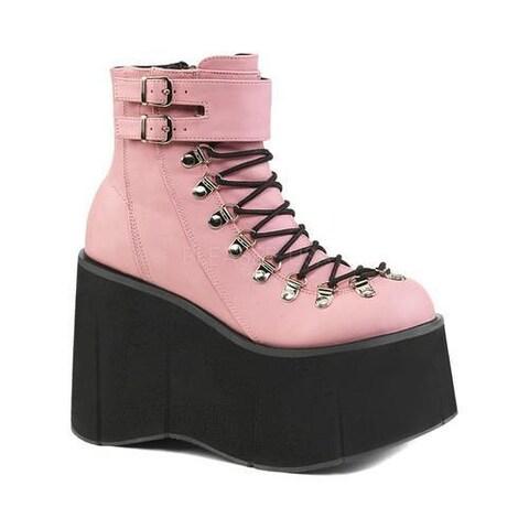 Women's Demonia Kera 21 Ankle Boot B. Pink Vegan Leather