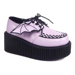 Women's Demonia Creeper 205 Creeper Lavender Vegan Leather