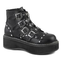 Women's Demonia Emily 315 Ankle Boot Black Vegan Leather