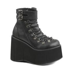 Women's Demonia Kera 21 Ankle Boot Black Vegan Leather