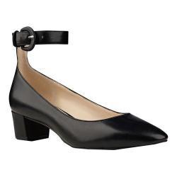 Women's Nine West Brianyah Ankle Strap Heel Black Synthetic