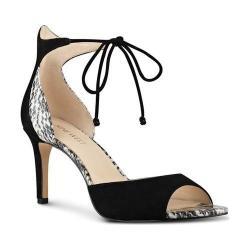 Women's Nine West Inesia Dress Sandal Black Suede