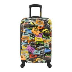 Loudmouth Luggage Black Party Mix 22in Expandable Carry-On Spinner Lu Black Party