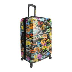 Loudmouth Luggage Black Party Mix 29in Expandable Spinner Luggage Black Party