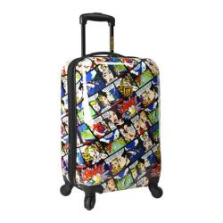 Loudmouth Luggage White Crak! 22in Expandable Carry-On Spinner Luggag White Crak!