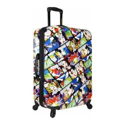 Loudmouth Luggage White Crak! 29in Expandable Spinner Luggage White Crak!