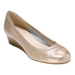 Women's Cole Haan Elsie II Wedge Pump Soft Gold Metallic Leather