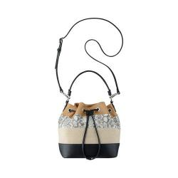 Women's Nine West Adali Small Bucket Handbag Dark Camel/Black/White/Dark Natural/Black