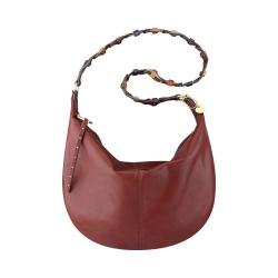 Women's Nine West Anwen Large Hobo Handbag Russet/Ultra Violet/Tropic Orange/Dark Camel