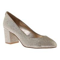 Women's Nine West Astor Block Heel Pump Platino Synthetic