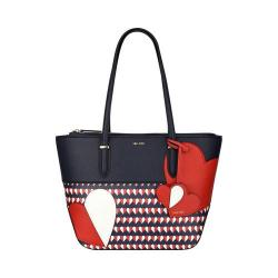 Women's Nine West Reana Medium Tote Handbag Moody Blue Multi/Moody Blue/Dynasty Red/White