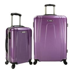 US Traveler 2-Piece USB Port EZ-Charge Expandable Spinner Set Purple