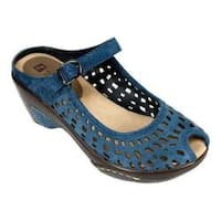 Women's White Mountain Marvy Blue Suede