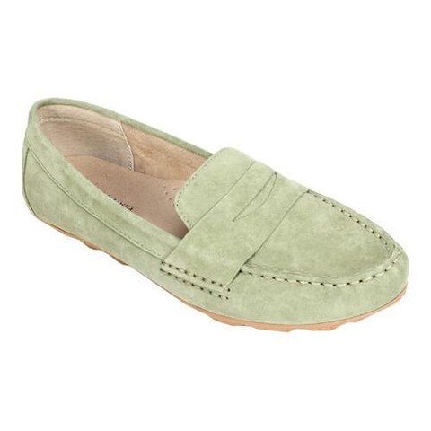 Women's White Mountain Skipper Sage Green Nubuck