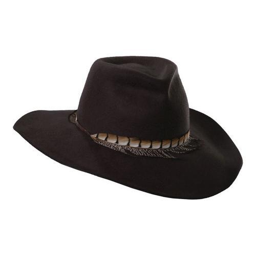 9903e51215077 Shop Women s Scala LF162 Safari Hat with Feather Trim Chocolate - Free  Shipping Today - Overstock - 14649929