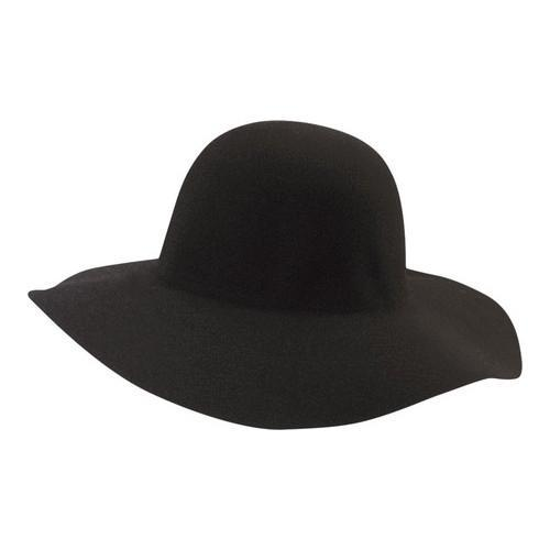 Shop Women s Scala LF41 Big Brim Felt Hat Black - Free Shipping On ... 317ff2bf4568