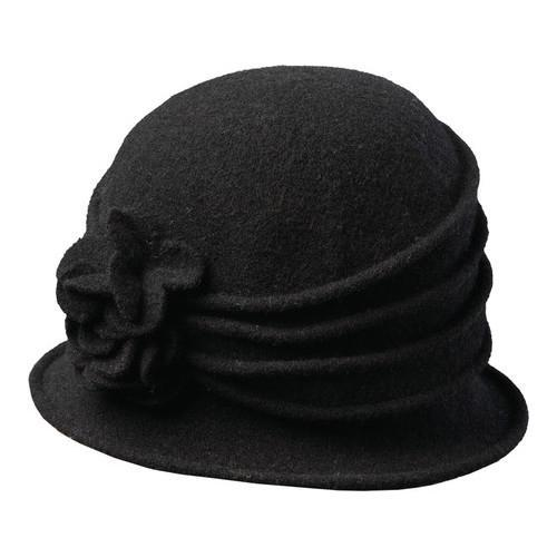 5eaafdec4d5 Shop Women s Scala LW497 Knit Hat Cloche with Self Flower Black - Free  Shipping On Orders Over  45 - Overstock.com - 14649956