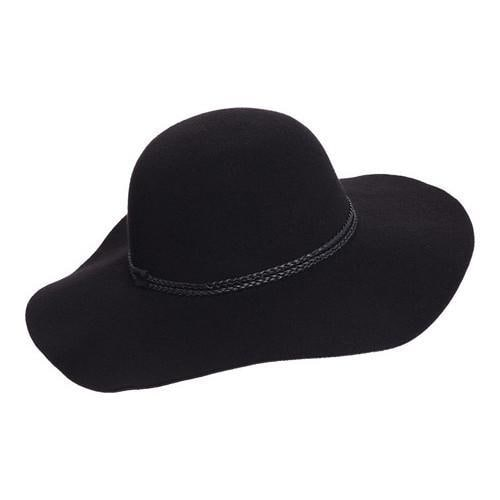 03fcc466 Shop Women's Scala LW640 Ultrafelt Sun Hat with Braided Trim Black - Free  Shipping On Orders Over $45 - Overstock - 14649968