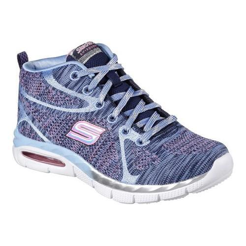 63d9fe69cb52 Shop Girls  Skechers Air Appeal Breezin By High Top Trainer Navy Periwinkle  - Free Shipping On Orders Over  45 - Overstock.com - 14649980