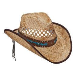 Women's Scala LR693 Pinch Cowboy Hat with Overlay Tea