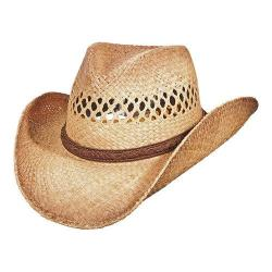 Men's Scala MR192 Burnt Pinch Front Cowboy Hat Burnt