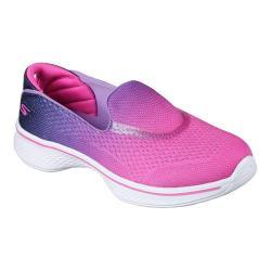 Girls' Skechers GOwalk 4 Sporty Starz Slip-On Hot Pink/Purple