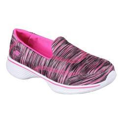 Girls' Skechers GOwalk 4 Walking Shoe Black/Hot Pink